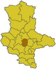 Бернбург на карте