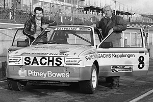 Xtrac Limited - Martin Schanche and Erich Zakowski of Zakspeed pictured at the British Rallycross GP 1983 at Brands Hatch with the so-called Xtrac 1 Ford Escort Mk3 4WD for Rallycross