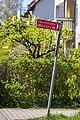 Schild in der Ebertstraße in Tübingen zu einem Nebenarm mit den Hausnummer 29, 35, 37 und 39.jpg