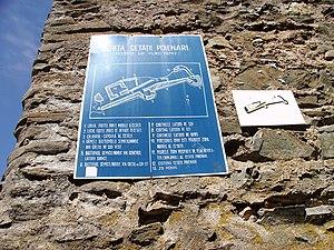 Poenari Castle - Poenari Castle plan