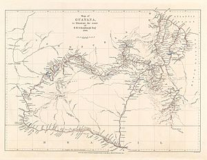 Robert Hermann Schomburgk - Schomburgk's 1840 map of his route through Guayana