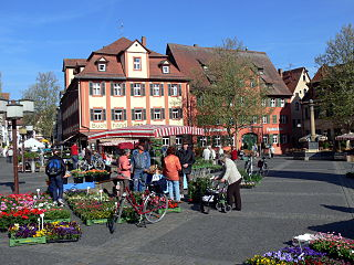 Schwabach Place in Bavaria, Germany