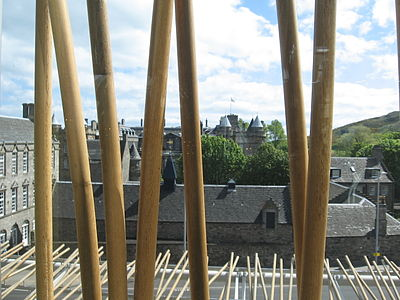 Holyrood Palace from the Scottish Parliament