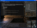 Screenshot of Legend of Grimrock showing the skilltree (poison magic) poison bolt shot selected in the lower right corner character, 2012.png