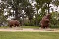 Sculptures at La Brea Tar Pits, Los Angeles, California LCCN2013632445.tif