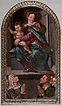 Scuola toscana, madonna del rosario con devoti, xvii secolo.jpg