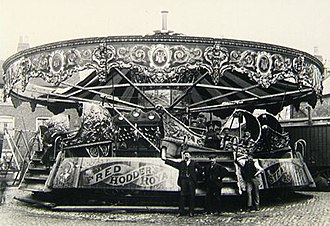 Carousel - Savage's amusement ride, Sea-On-Land, where the riders would pitch up and down as if they were on the sea.