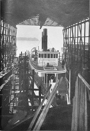 Tacoma (steamship) - Tacoma under construction.