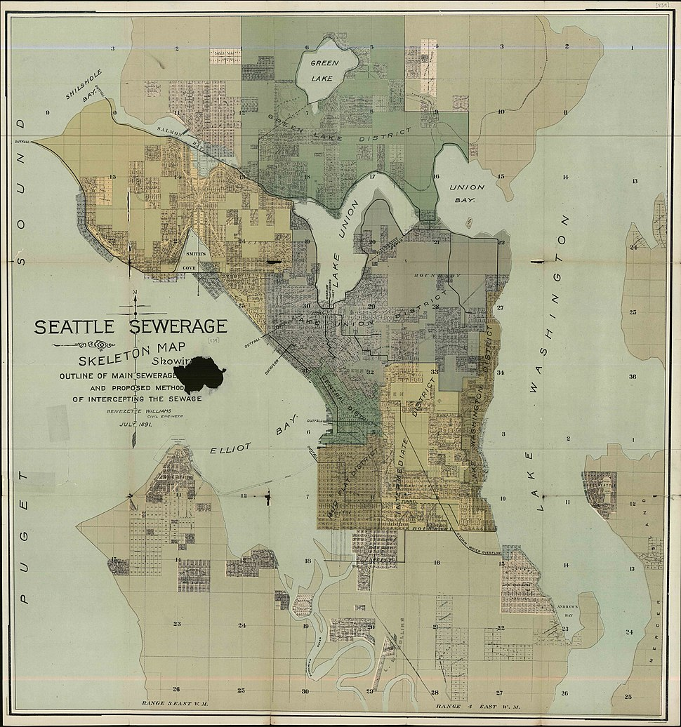 Seattle sewer districts, 1894
