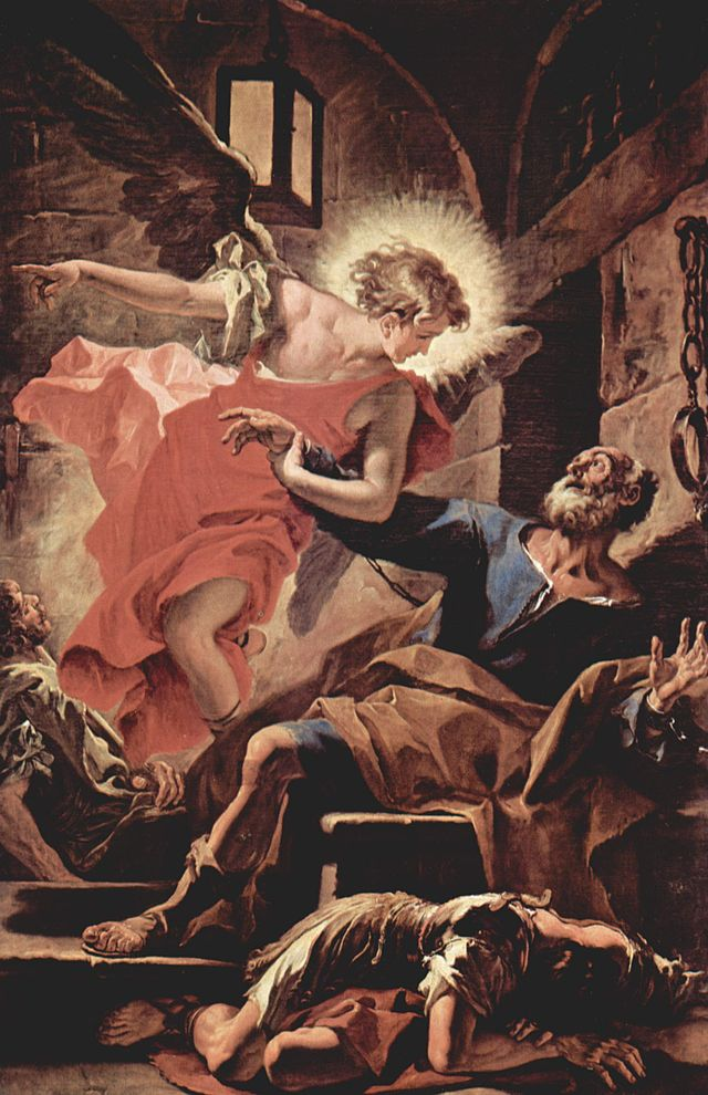 Un angelo aiuta Pietro ad evadere, dipinto di Sebastiano Ricci, 1710 dans immagini sacre 640px-Sebastiano_Ricci_010