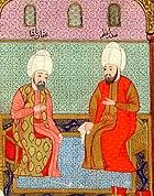 Осман-паша (слева) и Мурад III