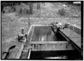 Second clarifier; ca. 1935; door clarifier. - Water Reclamation Plant, Grand Canyon, Coconino County, AZ HAER ARIZ,3-GRACAN,4-12.tif