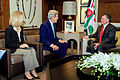 Secretary Kerry, Ambassador Wells Sit With King Abdullah II of Jordan Before Bilateral Meeting in Amman.jpg