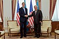 Secretary Kerry Shakes Hands With Kazakhstan Foreign Minister Idrissov in Astana (22672558616).jpg