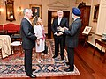 Secretary Pompeo Chats With Secretary Mattis, Canadian Foreign Minister Freeland and Canadian Defense Minister Sajjan (45402936725).jpg