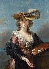 Elisabeth Lebrun's self-portrait