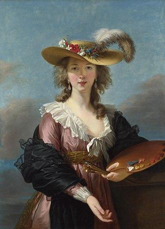Élisabeth Vigée Le Brun - Self-Portrait with Straw Hat, 1782
