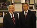 Senator Richard Lugar with Kazakhstani Speaker Nurtai Abikayev.jpg