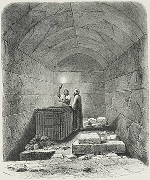 Menkaure - Image: Sepulchral Chamber of Men ka ra (1878) TIMEA