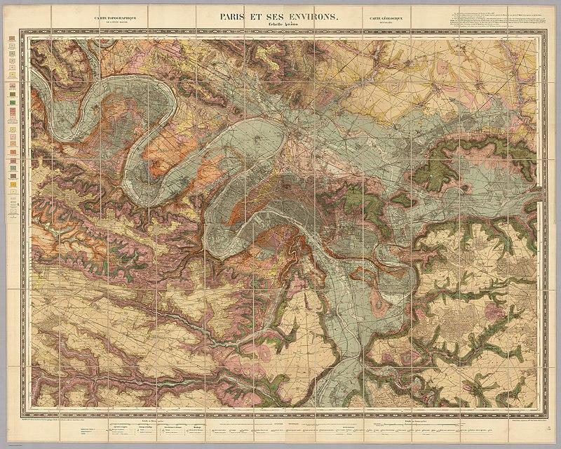 Service géologique des mines, Paris et ses environs, 1890 - David Rumsey.jpg