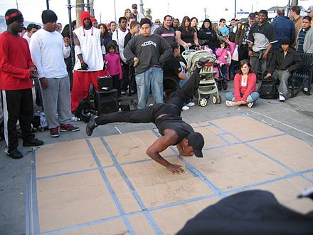 A b-boy performing in San Francisco Sf hiphop.jpg