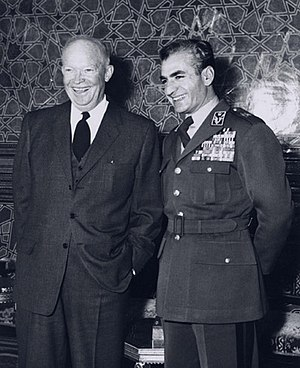 Eisenhower with the Shah of Iran, Mohammad Reza Pahlavi (1959) ShahEisenhower.jpg