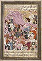 Shah Ismail I Watches His Troops Defeat the Musha' sha' leader Sultan Fayyad. Persian manuscript, created c. 1688.jpg