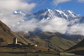 Shahara peak near Ushguli 1870