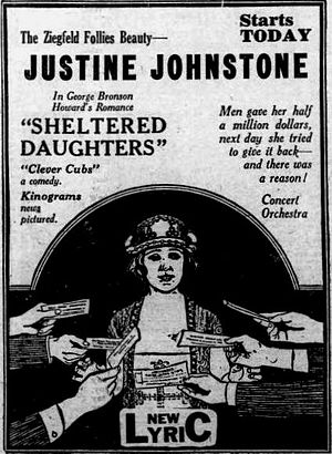 Sheltered Daughters - Newspaper ad