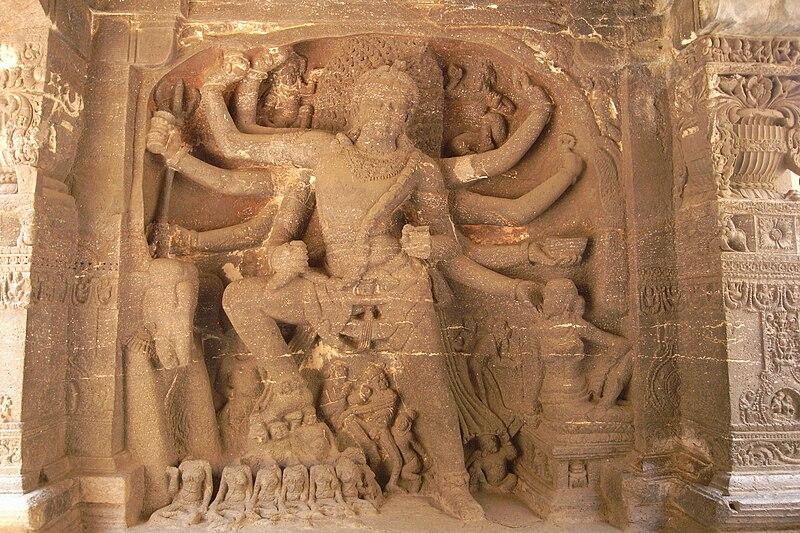 Shiva Bhairava of Ellora Caves