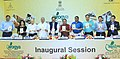 Shripad Yesso Naik releasing the Yoga Protocol for the International Yoga Day – 2016 at the inauguration of the National Fair on AYUSH, at Bambolim, in Goa.jpg