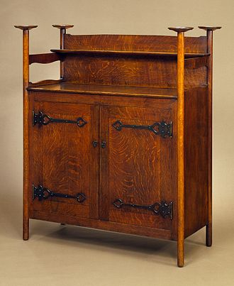 C. F. A. Voysey - A sideboard by Voysey, Nielsen, Elsley and Company, Ltd