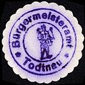 Siegelmarke Bürgermeisteramt Todtnau W0229215.jpg
