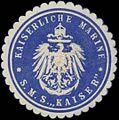 Siegelmarke K. Marine S.M.S. Kaiser W0370782.jpg
