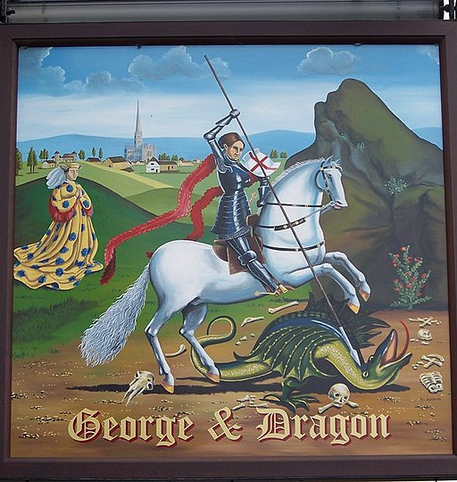Sign for the George and Dragon - geograph.org.uk - 578822