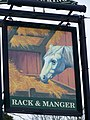Sign for the Rack and Manager - geograph.org.uk - 1659255.jpg