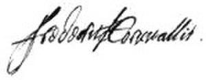 Frederick Cornwallis, 1st Baron Cornwallis - Image: Signature of Sir Frederick Cornwallis, 1st Baron Cornwallis of Eye