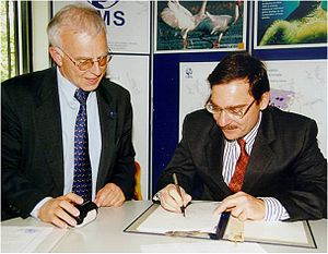 Great Bustard Memorandum of Understanding - Signing of the Great Bustard MoU by Greece, 22 May 2001