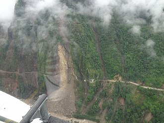 2011 Sikkim earthquake - Sikkim earthquake aerial survey by Indian Air Force helicopter