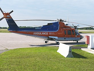 Ornge - An early production Sikorsky S-76A owned by Canadian Helicopters and used in the Ontario air ambulance role in August 2007. The aircraft is in an earlier Ontario Air Ambulance paint scheme
