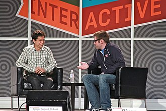 Pinterest - Founder Ben Silbermann (left) at the South by Southwest Interactive conference in March 2012