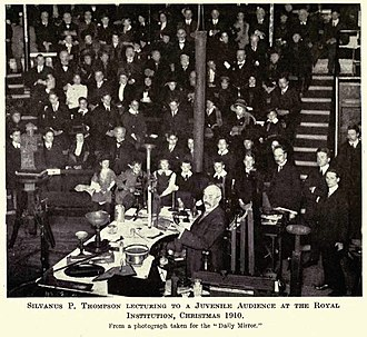 Silvanus P. Thompson - Silvanus Thompson lecturing at the Royal Institution