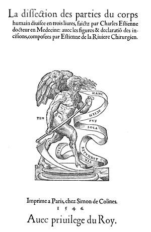 Simon de Colines - Colines's satyr pressmark