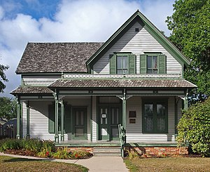 Sinclair Lewis Boyhood Home - The Sinclair Lewis Boyhood Home from the south