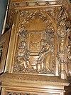 sint martinuskerk katwijk (cuijk) preekstoelpaneel 1, samaritaanse vrouw