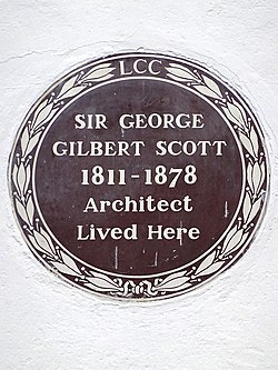 Sir george gilbert scott 1811 1878 architect lived here