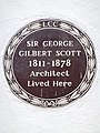Sir George Gilbert Scott 1811-1878 Architect lived here.jpg