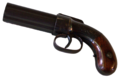 Six-barreled pepperbox of the Fort Union's hunters with trigger guard.png