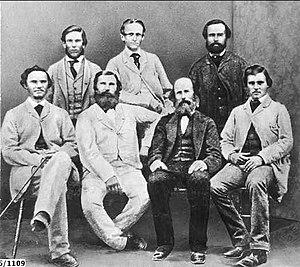 John McDouall Stuart - 1861  Auld Billiatt Thring  Frew Kekwick Waterhouse King  absent: Stuart Nash McGorrery