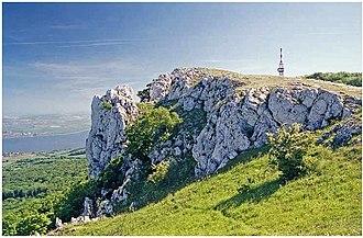 Pálava Protected Landscape Area - Image: Skály na vrcholu děvína